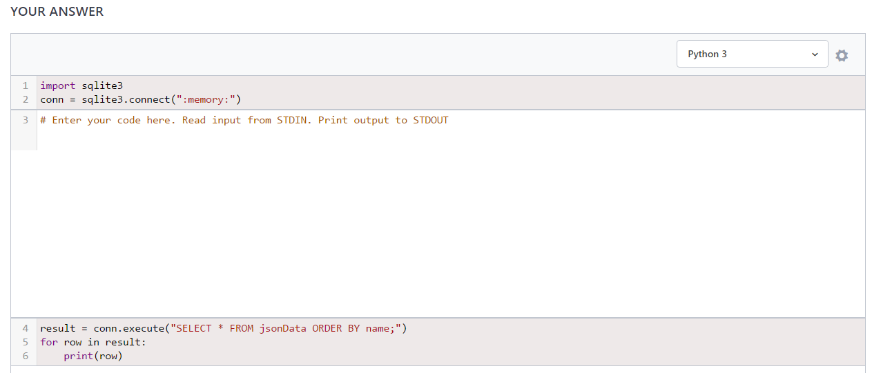 Solved: Each Test Case Is A JSON Array (supplied To Stdin
