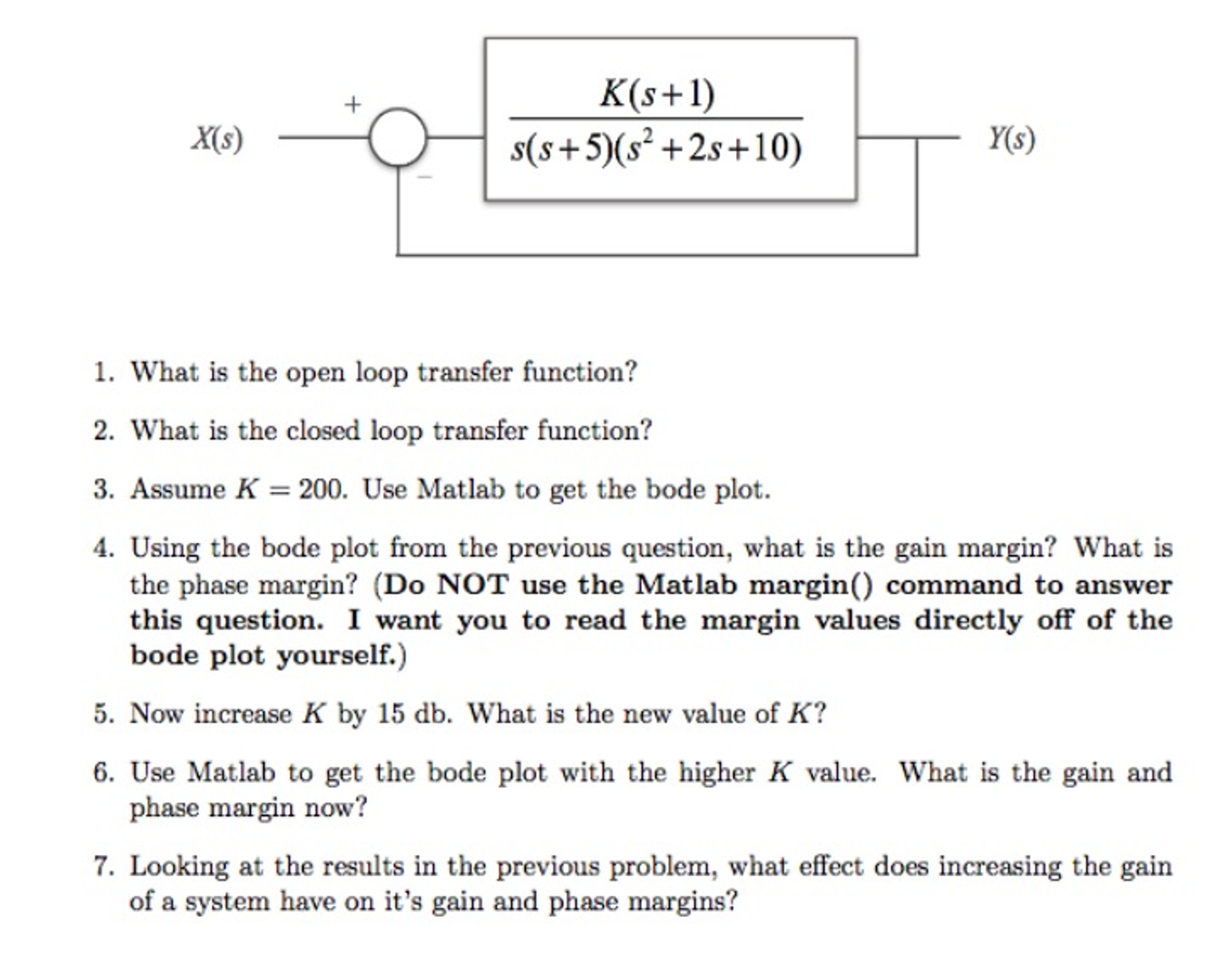 Solved: What Is The Open Loop Transfer Function? What Is T