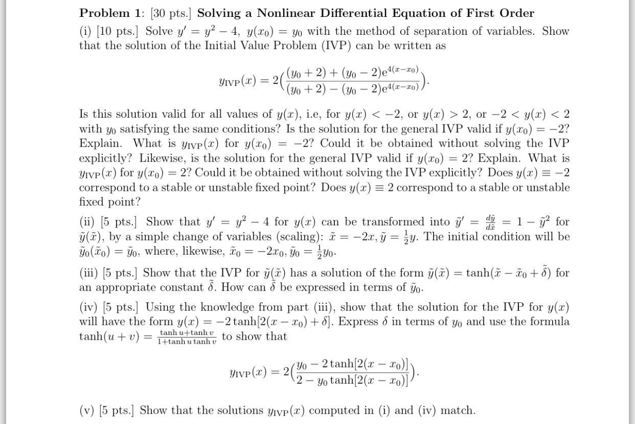solved: solving a nonlinear differential equation of first