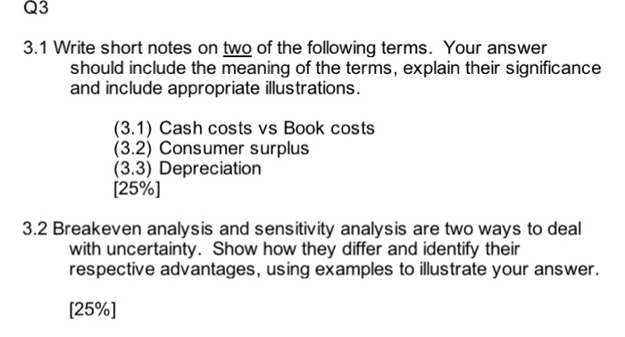 how to write a short analysis