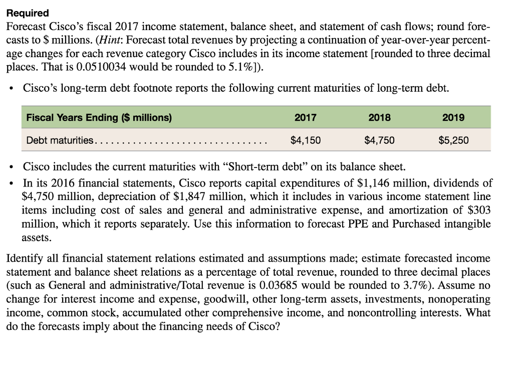 P11-32  Forecast The Income Statement, Balance She