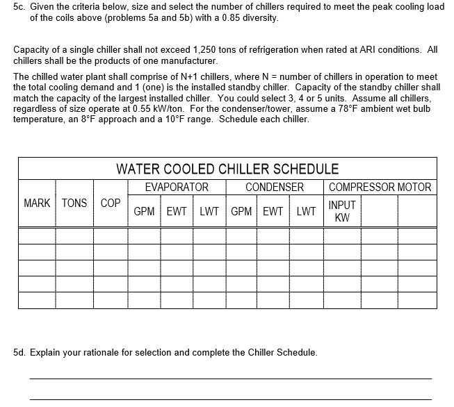 58b8bef054ed Using the Chilled Water Cooling Coil Schedule below and sea level  psychrometric chart(s) as appropriate or needed (attached or include your  psychrometric ...