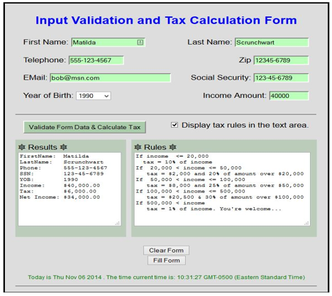 Solved: Create An Input Validation And Tax Calculation For