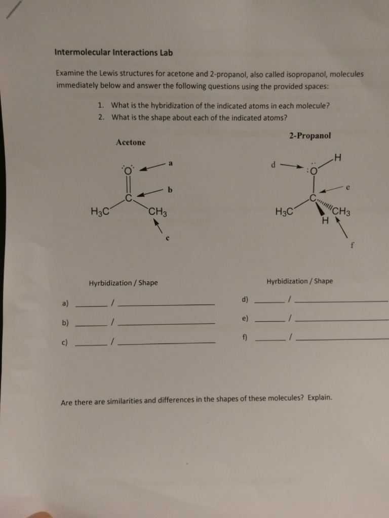 Chemistry archive february 15 2017 chegg intermolecular interactions lab examine the lewis structures for acetone and 2 propanol also called fandeluxe Images