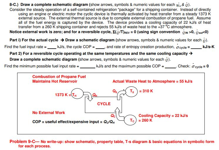 Solved 8 C Draw A Complete Schematic Diagram Show Arro