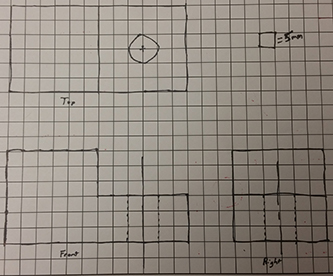 Solved Draw The Isometric View Of The Object Below Given
