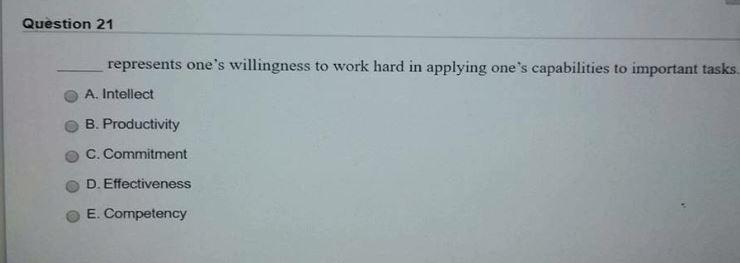 willingness to work hard