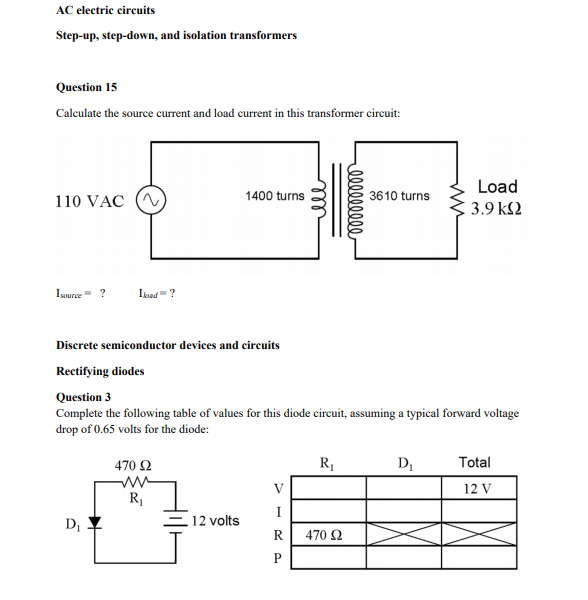 Electrical Circuit Ks2