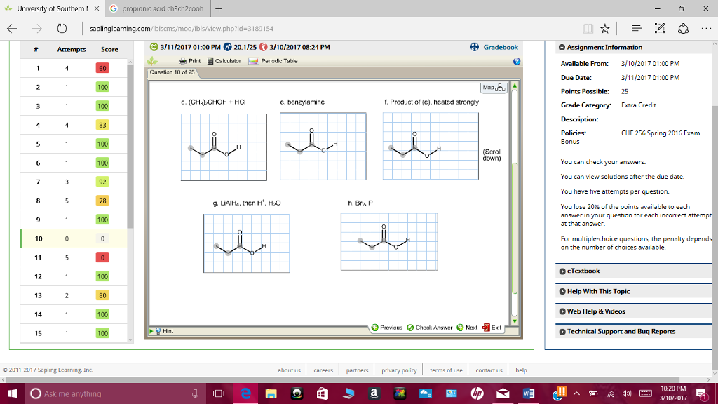 Solved give the major organic products of the reaction of give the major organic products of the reaction of propanoic acid with each of the following reagents propanoic acid is drawn fandeluxe Images