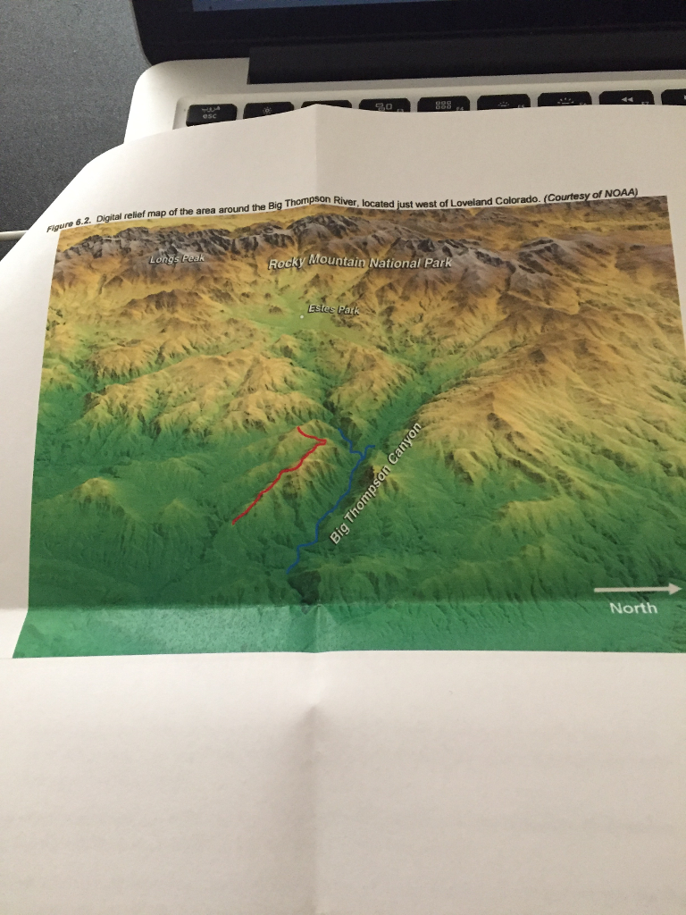 Solved: 1) Figure 6.2 Is A Digital Relief Map Showing The ... on