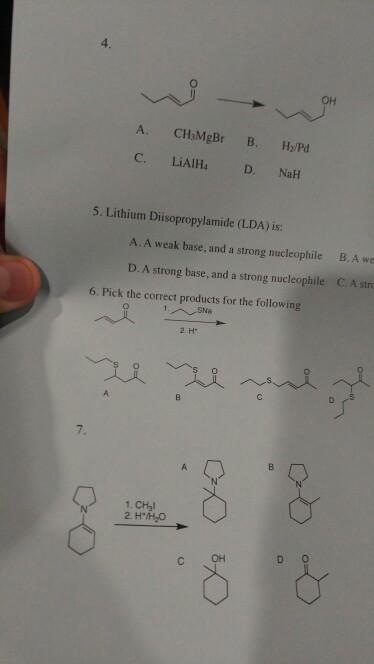 Solved: #4 B  Weak Base And Weak Nuclephile C  Strong Base