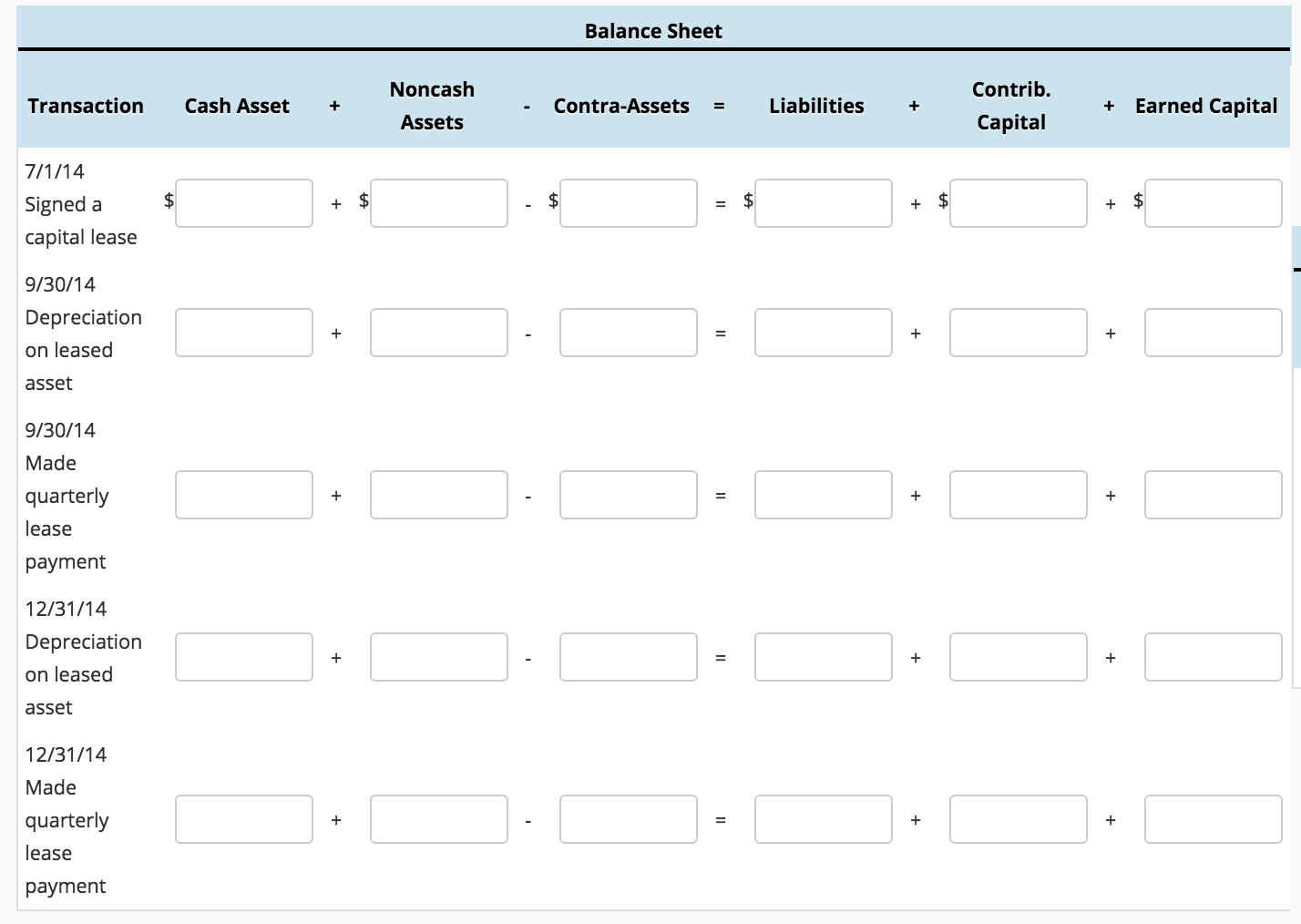 Prepare A Financial Statement Effects Template To Show The Of Entries From Parts And B On Balance Sheet Income