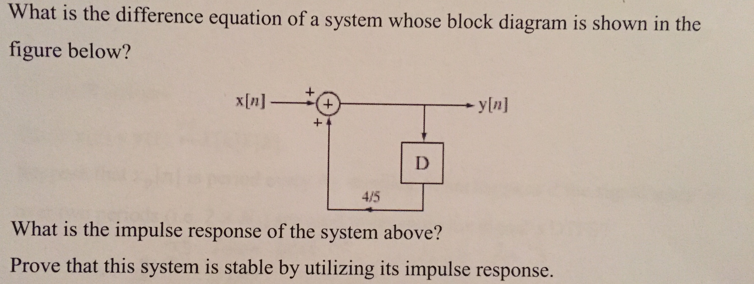 Solved What Is The Difference Equation Of A System Whose Block Diagram Equations Question Shown In Figure Below Wh