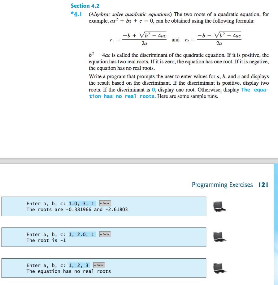 solved: python only (algebra: quadratic equations) design