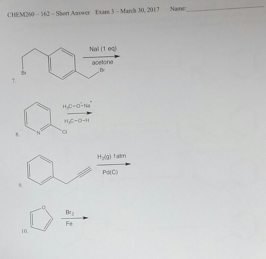 chem exam 3