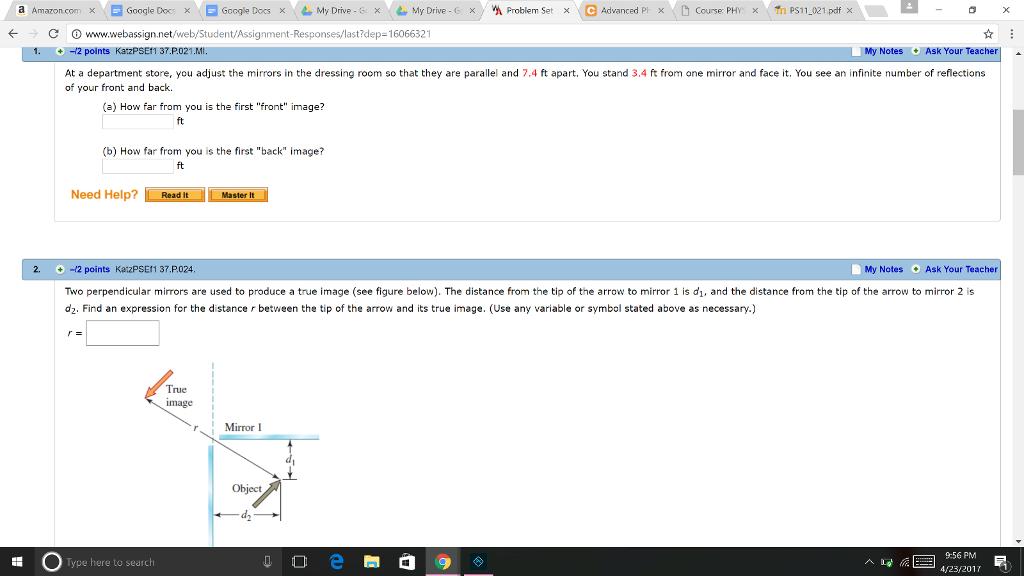 Solved A Amazon Com X E Google Cors X Google Docs X My Dr
