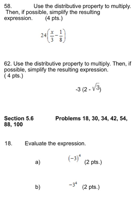 solved use the distributive property to multiply then i