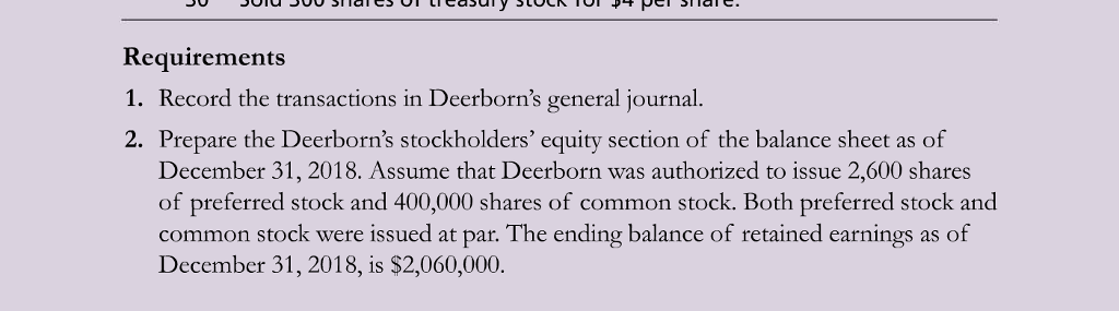 Solved: P13-42A Journalizing Dividends And Treasury Stock