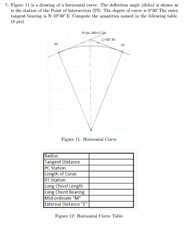 Civil D Draw Line Bearing Distance : Solved figure is a drawing of horizontal curve t