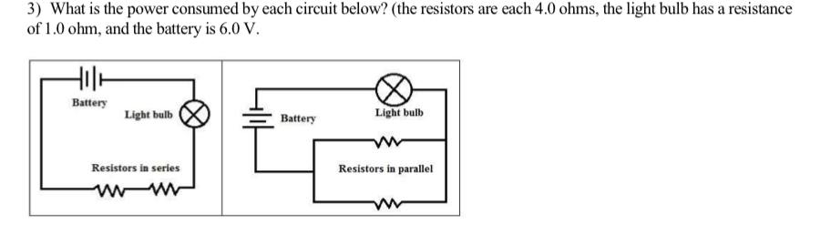 Solved: 3) What Is The Power Consumed By Each Circuit Belo