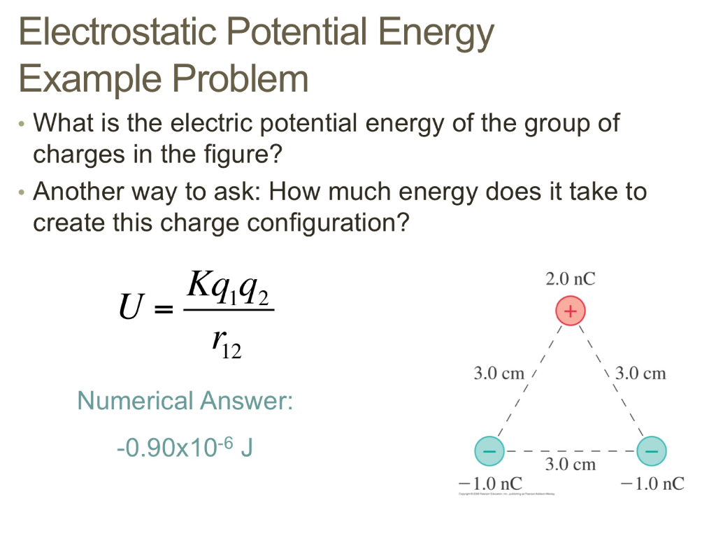 potential energy problems and answers