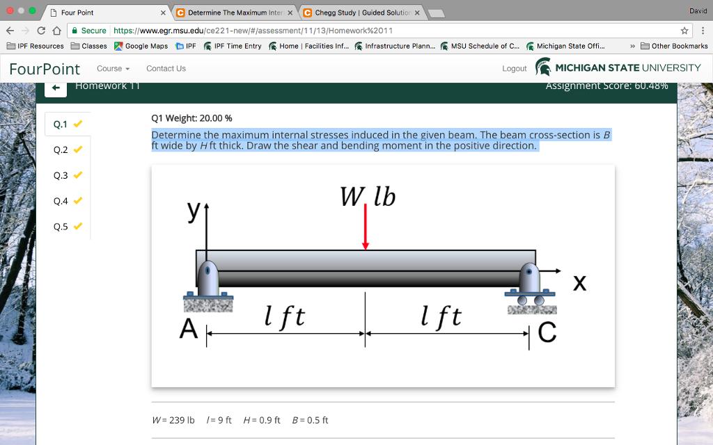 Solved: X C Determine The Maximum Inter X C Chegg Study L