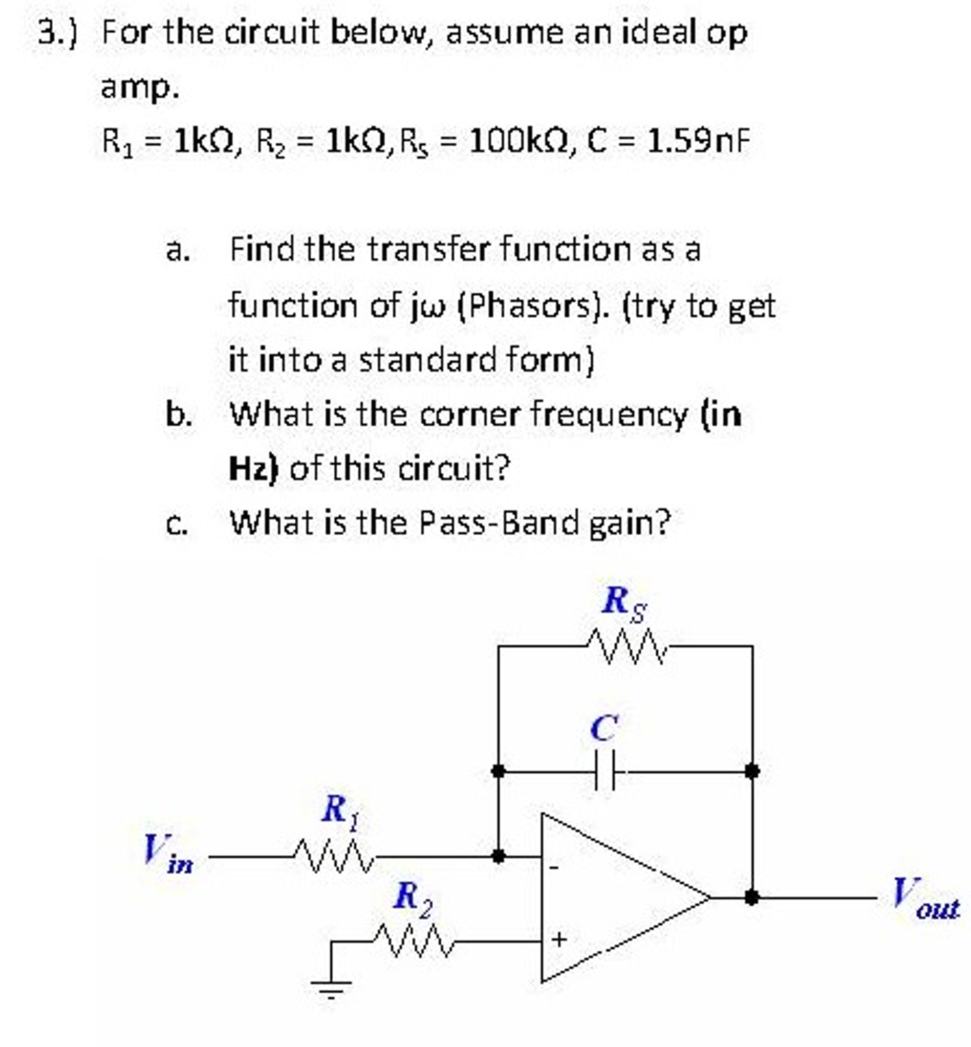 Electrical engineering archive november 02 2016 chegg for the circuit below assume an ideal op amp r falaconquin