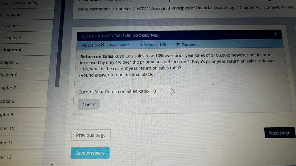 Solved: Financial Accounting My Subscriptions / Courses