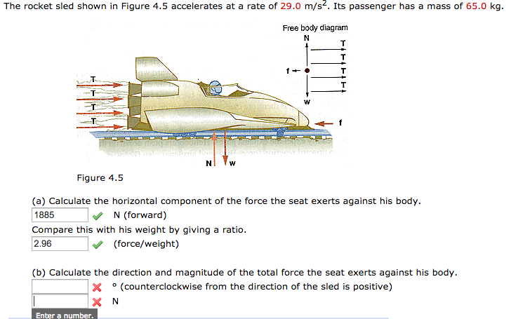 Solved: The Rocket Sled Shown n Figure 4.5 Accelerates At... | Chegg.comChegg