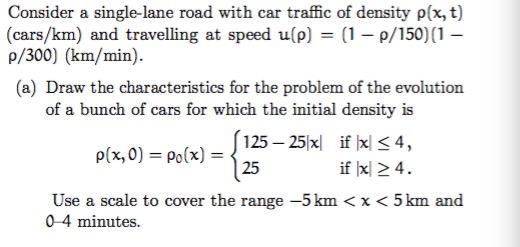 Consider A Single-lane Road With Car Traffic Of De    | Chegg com