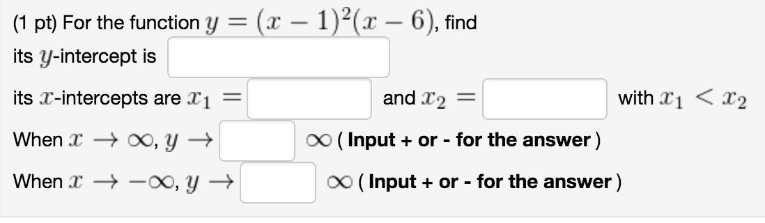Show Transcribed Image Text (1 Pt) Find A Formula For The Polynomial F (r)  Of Least Degree That Passes Through The Points ( 4,0), (3,0), And (0, ...