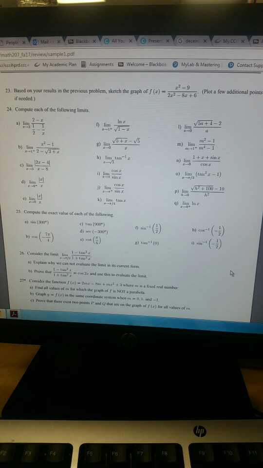 Solved: Math207 Fa17/review/samplei pdf /lechprd cce My Ac