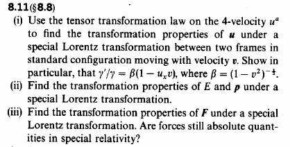 Use the tensor transformation law on the 4-velocit