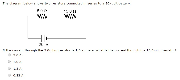 Solved The Diagram Below Shows Two Resistors Connected In