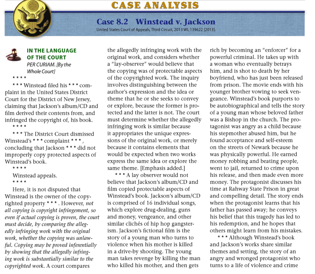 how to write a case analysis law