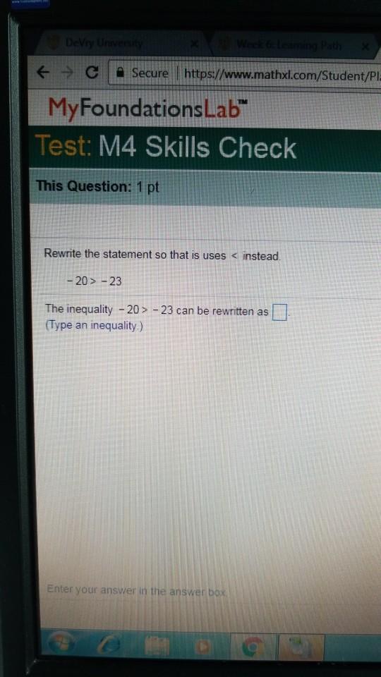e C Secure httpswwwmathxdcomStudentPI MyFoundationsLab Algebra Archive