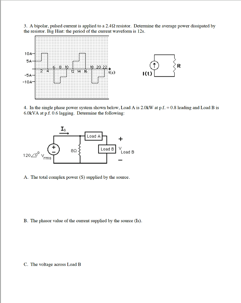 Solved 1 In The Circuit Shown Below I T 10cos 250t A For Parallel Calculate Total Resistance See More Show Transcribed Image Text And V20t 20s 30 Determine Ab 106hf 80 32mh 2