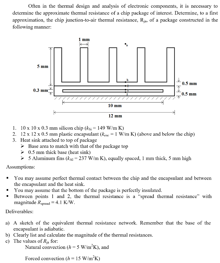 Solved: Often In The Thermal Design And Analysis Of Electr ...