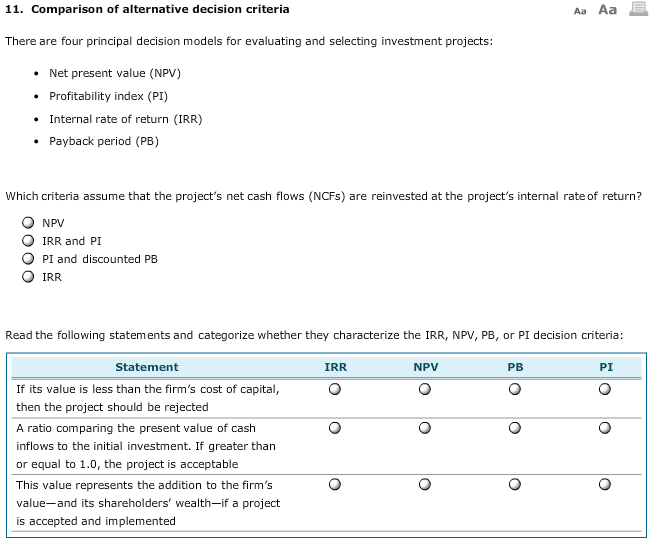 Evaluating investments with net present value criteria model nixon investments