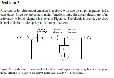 solved problem 3 a second order differential equation is rh chegg com Equation Diagram Solve for Variable Mathematical Equation Diagram