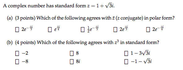 Solved A Complex Number Has Standard Form Z 1 Squarero