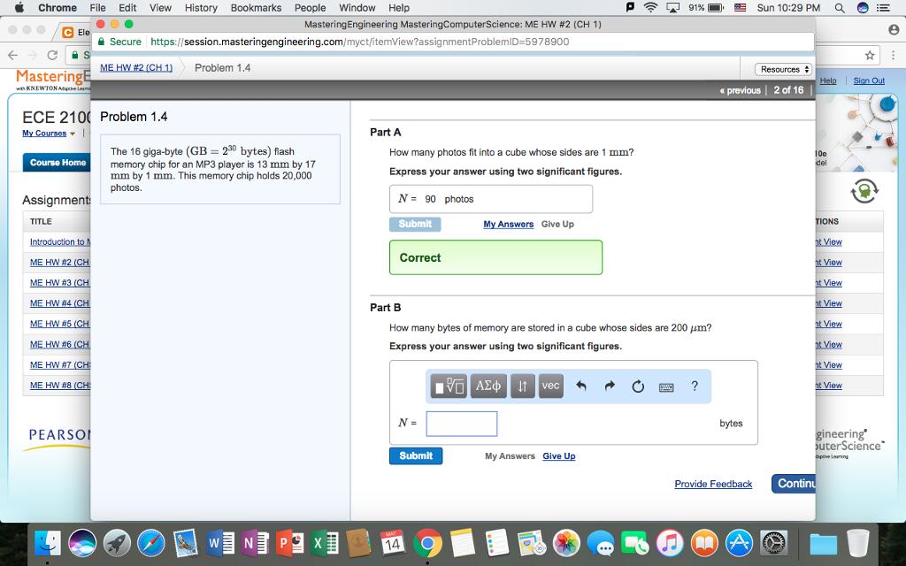 Solved: P C 91%D  EE Sun 10:29 PM E Chrome File Edit View