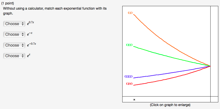 Solved: Without Using A Calculator, Match Each Exponential