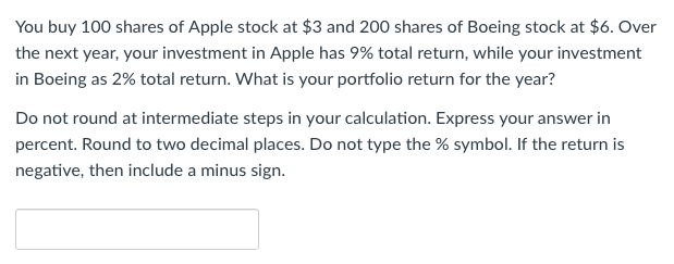 Solved You Buy 100 Shares Of Apple Stock At 3 And 200 Sh
