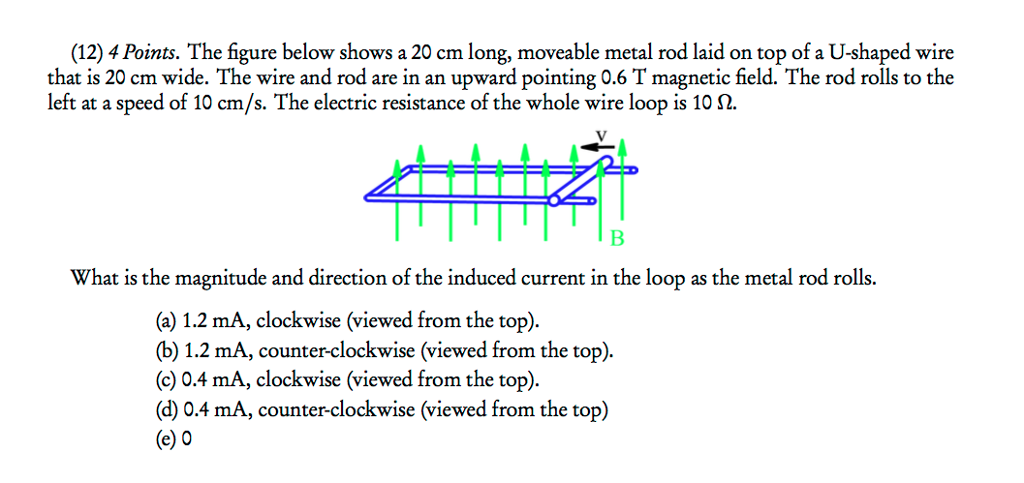 Solved: The Figure Below Shows A 20 Cm Long, Moveable Meta ...