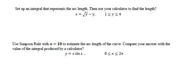 Solved: use a calculator to find the approximate length of.