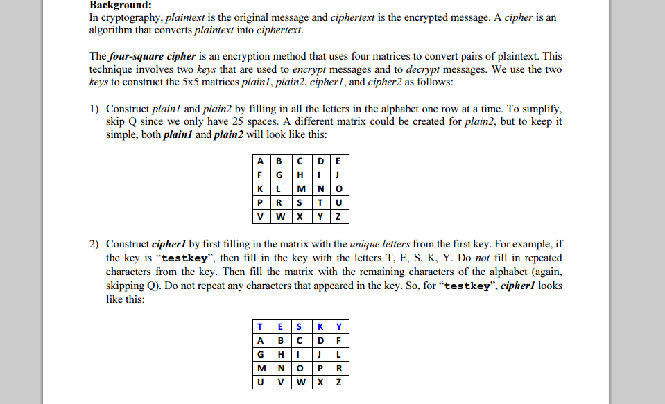 I Need Help Writing Encryption Code For My CIS Cla