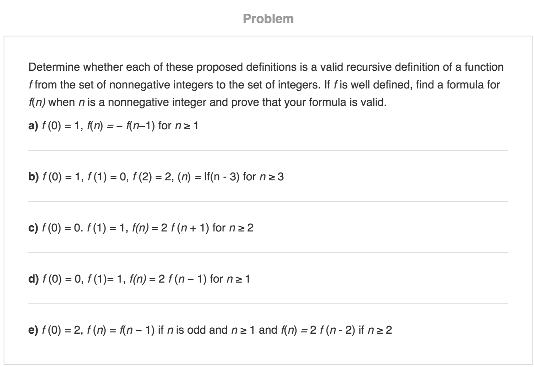 solved: determine whether each of these proposed definitio