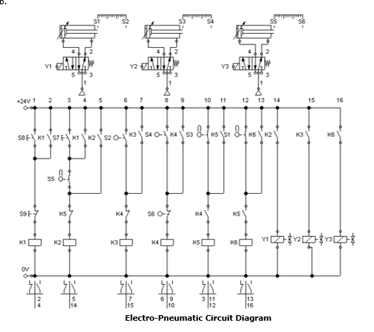 solved: briefly explain the operating sequence of the pneu ... blinking led circuit diagram pneumatic circuit diagram #11