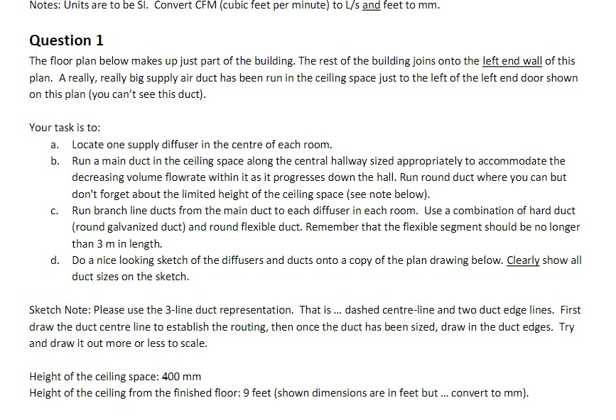 Notes: Units Are To Be S. Convert CFM (cubic Feet Per Minute)